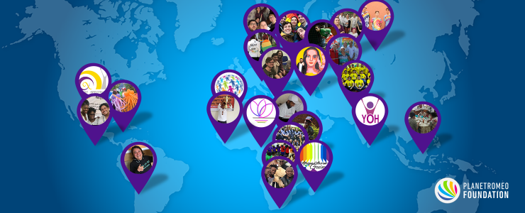 PlanetRomeo Foundation 2017 Achievements Worldmap